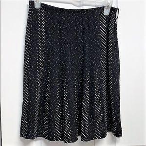Talbots Silk Skirt Size 4P Polka Dot Print